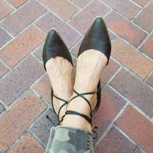 Anthro Miss Albright Vanessa d'Orsay Lace up Flats